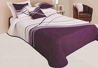 Forbyt, Přehoz na postel, Lake, fialový 240 x 260 cm + 2 ks 40 x 40 cm