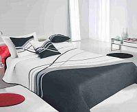 Forbyt, Přehoz na postel, Lake, šedý 240 x 260 cm + 2 ks 40 x 40 cm
