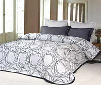 Forbyt, Přehoz na postel, Omega, tmavě modrá 240 x 260 cm