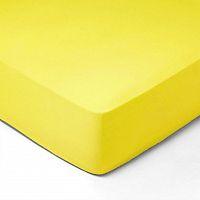 Forbyt, Prostěradlo, Jersey, světle žlutá 70 x 140 cm