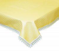 Forbyt, Ubru,s bavlněný Exclusive s krajkou, žlutý 120 x 140cm