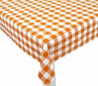 Forbyt, Ubrus bavlněný, Vintage káro, oranžový 120 x 140cm