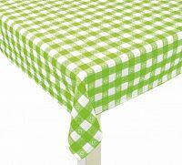 Forbyt, Ubrus bavlněný, Vintage káro, zelený 120 x 140cm