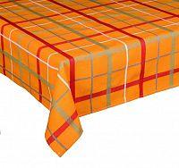 Forbyt, Ubrus celoroční, Kostka, oranžová 100 x 140 cm