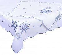 Forbyt, Ubrus vánoční, Modré vločky 18 120 x 140cm