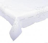 Forbyt, Ubrus vánoční, Stříbrné svíčky 18, bílá 120 x 140cm