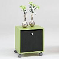 Odkládací stolek ELISA pastelově zelený/antracit