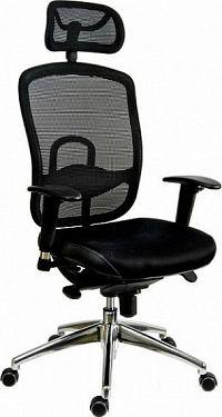 Antares Kancelářská židle Oklahoma PDH šedá síť/šedá látka