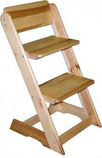 ATAN Dětská rostoucí židle - borovice Borovice - surové dřevo