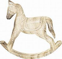 Autronic Dřevěný houpací kůň SHA627546