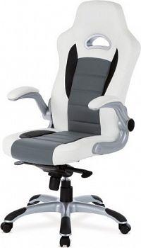 Autronic Kancelářská židle KA-E240B GREY - černá/šedá