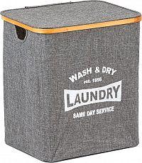 Autronic Koš na prádlo z textilu s víkem KD4422