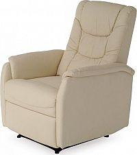 Autronic Relaxační křeslo TV-7013 Krémová koženka CRM