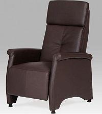 Autronic Relaxační křeslo TV-8135 GREY2 - koženka černá / látka šedá