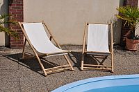 Axin Trading Bambusové lehátko Relax set 2 kusy