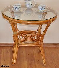 Axin Trading Ratanový stolek Bahama Hnědý