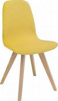 BRW Jídelní židle Azteca ULTRA TX069 - dub sonoma/TK Amore 28 yellow