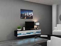 Cama Televizní stolek VIGO New 180 - černá/bílá