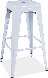 Casarredo Barová kovová židle LONG bílá