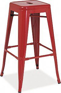 Casarredo Barová kovová židle LONG červená
