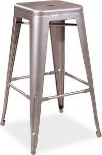 Casarredo Barová kovová židle LONG nerezová ocel