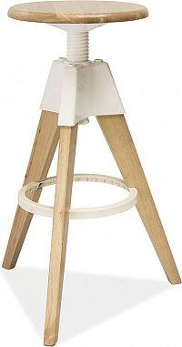 Casarredo Barová židle BODO bělený dub-bílá