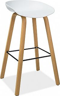 Casarredo Barová židle STING buk/bílá