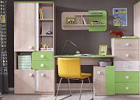 Casarredo Dětský pokoj DUO (D2+4+6+8) santana/zelená