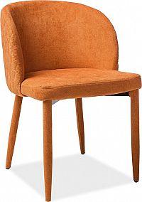 Casarredo Jídelní čalouněná židle CARLOS oranžová