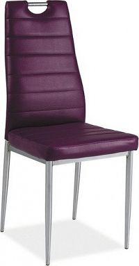 Casarredo Jídelní čalouněná židle H-260 fialová/chrom