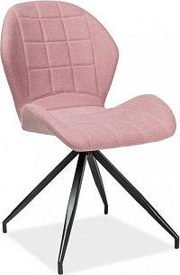 Casarredo Jídelní čalouněná židle HALS II růžová