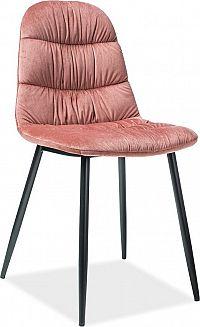 Casarredo Jídelní čalouněná židle VEDIS růžová
