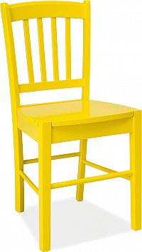 Casarredo Jídelní dřevěná židle CD-57 žlutá