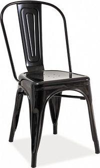 Casarredo Jídelní kovová židle LOFT černá