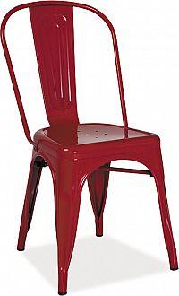 Casarredo Jídelní kovová židle LOFT červená