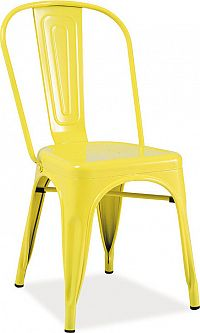 Casarredo Jídelní kovová židle LOFT žlutá