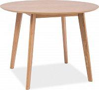 Casarredo Jídelní stůl kulatý MOSSO II dub