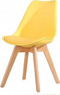 Casarredo Jídelní židle CROSS žlutá