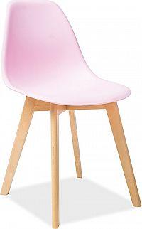 Casarredo Jídelní židle MORIS růžová/buk