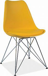 Casarredo Jídelní židle TIME žlutá