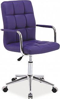 Casarredo Kancelářská židle Q-022 fialová