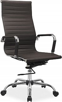 Casarredo Kancelářská židle Q-040 eko hnědá