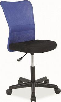 Casarredo Kancelářská židle Q-121 černá/modrá