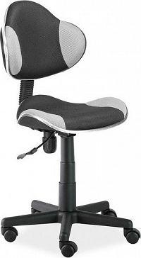 Casarredo Kancelářská židle Q-G2 černá/šedá