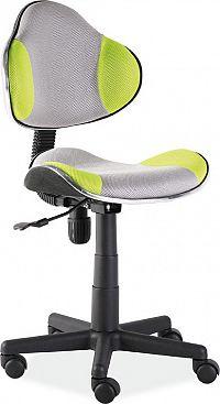 Casarredo Kancelářská židle Q-G2 šedá/zelená