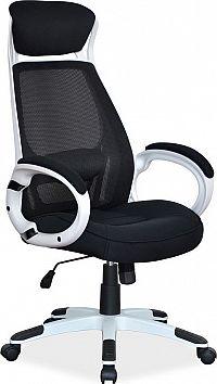 Casarredo Kancelářské křeslo Q-409 černá/bílá