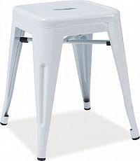 Casarredo Kovový taburet - stolek SPOT bílá