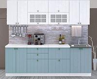 Casarredo Kuchyně PROVENCE  - bílá/světle modrá