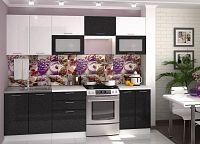 Casarredo Kuchyně VALERIA  - bílá/černý metalic