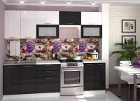 Casarredo Kuchyně VALERIA  bílá/černý metalic